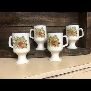 Set Of 4 Beautiful Spice of Life Pedestal Mugs